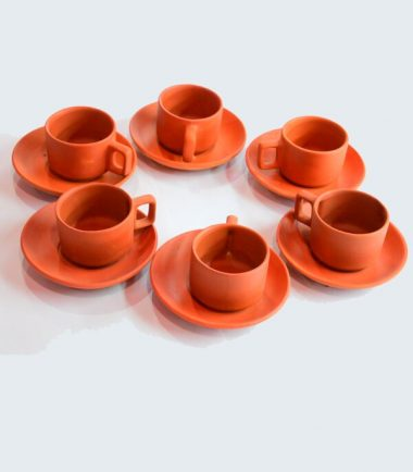 Terracotta Clay Plate, Cups, Bowls