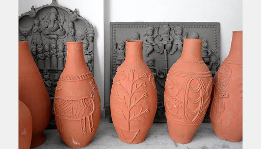 Terracotta Clay Indian And World History Cooking Artwork Decor