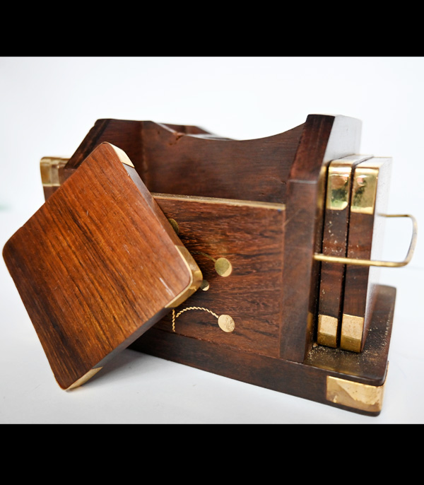Wooden Craft Pen Stand With Slides Tray