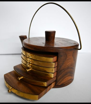Wooden Craft Tea Tray Slides With Handle For Decoration