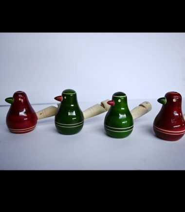 Wooden Toy Birds Whistle Four Sets