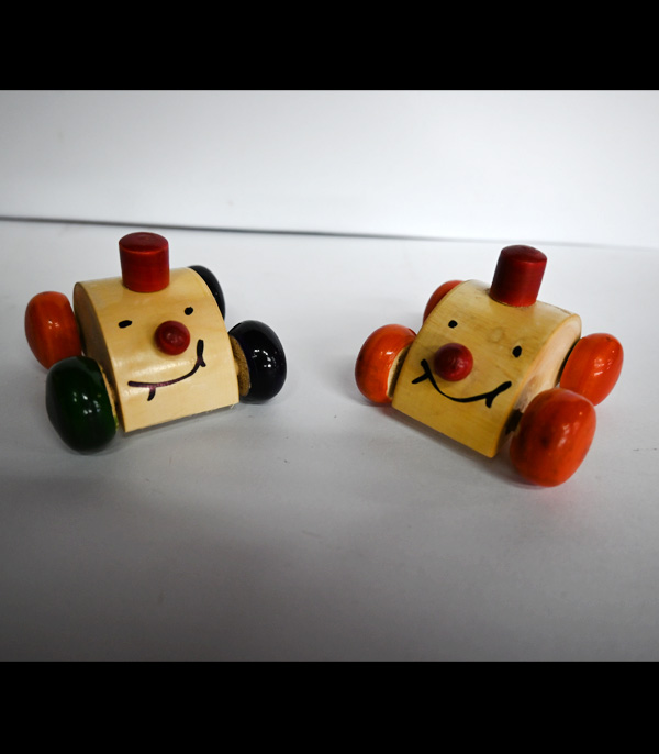 Wooden Toy Cute Car With Wheels Working