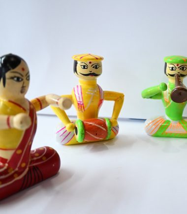 Wooden Toys For Kids Fun Character With Marriage or Functions or Kirtan