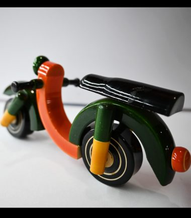 Wooden Toys Wooden Bike Motorcycle With Working Wheels
