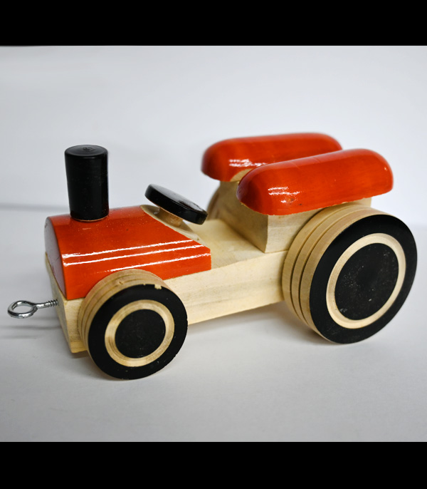 Wooden Toy Wooden Car With Wheel Steering